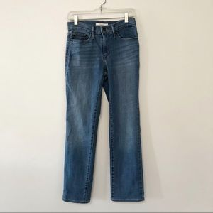 Levi's jeans slimming straight style